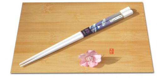 Chop Sticks Japanese Mt. Fuji and Sea Wave white wood chop sticks 22cm